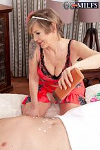 A GILF masseuse who gives happy beginnings & endings