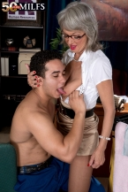 The amorous boss dominatrix-bitch and the cleaning man