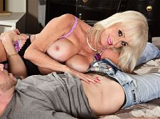 Leah's 1st video screw is with a youthful stud