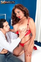 A large assed Latin babe with larger than average love bubbles and dick-sucking lips