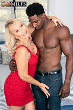 Sandy Pierce shags a bigger in size than average, darksome cock